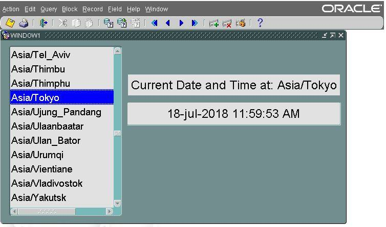 dynamic time in oracle forms