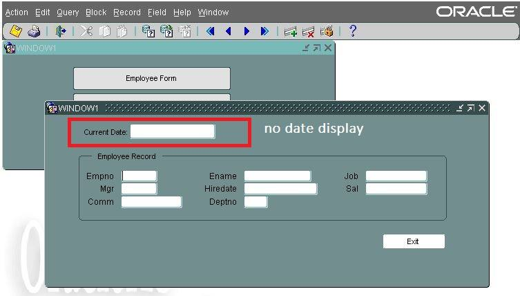 open_form in oracle forms