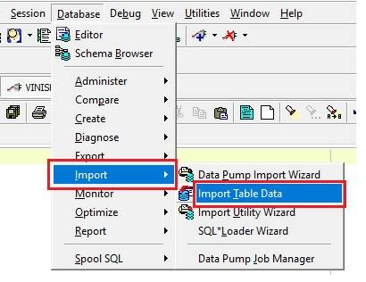 Import CSV into Oracle Table Using Toad