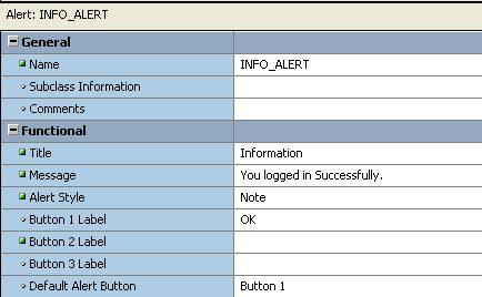 create alert in Oracle Forms