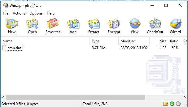 How to ZIP a File in PL/SQL? | Vinish Kapoor's Blog