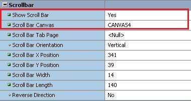 How to Add Scrollbar in Oracle Forms? | Vinish Kapoor's Blog