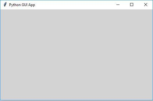 Tkinter create window example