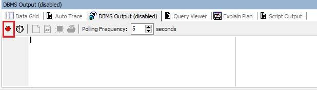 DBMS Output Window in Toad for Oracle