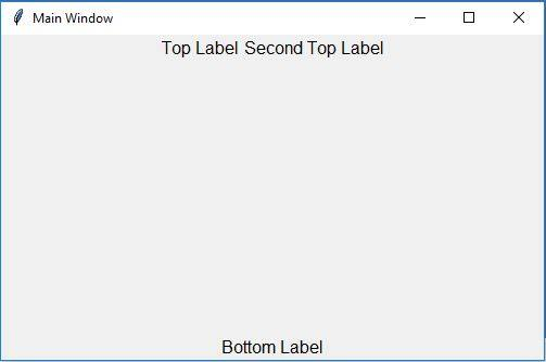 Create a label inside the frame example using Tkinter