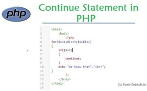 Read more about the article Continue Statement in PHP