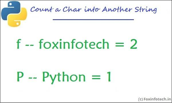 Count a character in a string using Python