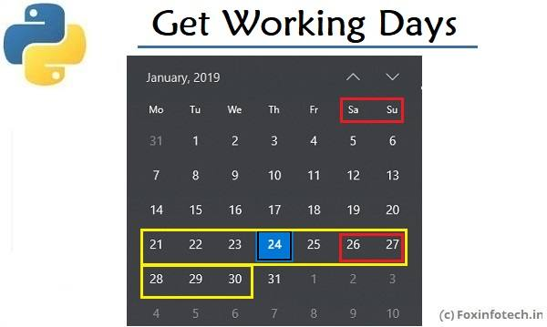 Get Working Days Using Python