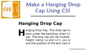 Read more about the article Hanging Drop Cap Example Using CSS
