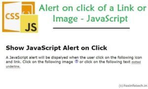 Read more about the article Show Alert Message On Click Using JavaScript