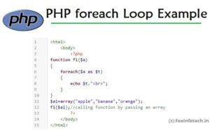 Read more about the article PHP FOREACH Loop Example