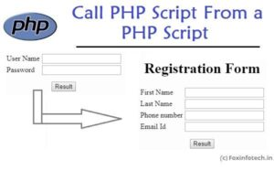 Call PHP Script from a PHP Script example.