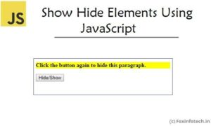 Read more about the article Show Hide (Toggle) Elements Using JavaScript