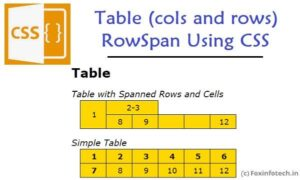 Read more about the article How to Include 2 Columns Under One Column Header in HTML Table? (rowspan using c)
