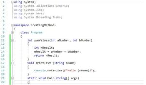 Read more about the article How to Declare, Create, and Call a Method in C#?