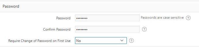Specify password.