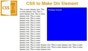 Read more about the article CSS to Make Div Element Float Right