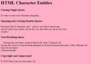 Read more about the article HTML: Learn to Code Character Entities