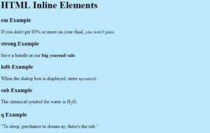 Read more about the article Learn How to Code Inline Elements for Formatting and Identifying Text in HTML