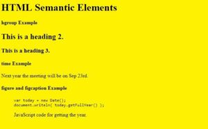 Read more about the article HTML5: Learn to Code with Semantic Elements