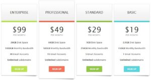 Read more about the article CSS Pricing Table Example (Hosting Plan Demo)