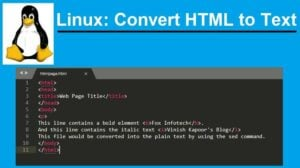 Linux: Remove HTML tags.