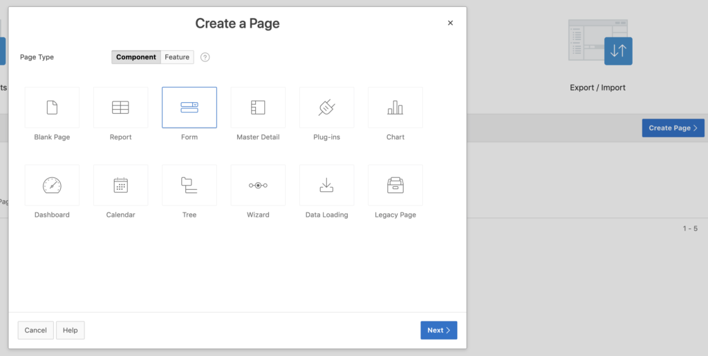 Oracle Apex - Create a Page