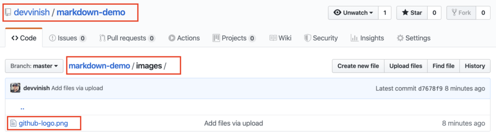 GitHub Repository image folder contents.