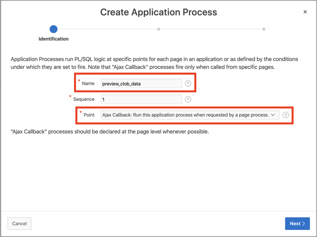 Create application process in Apex.