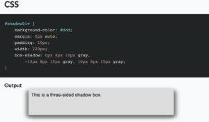 Read more about the article CSS: Box-Shadow on Three Sides Except Top