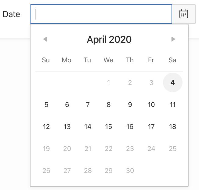 Oracle Apex: Setting a minimum and maximum date.