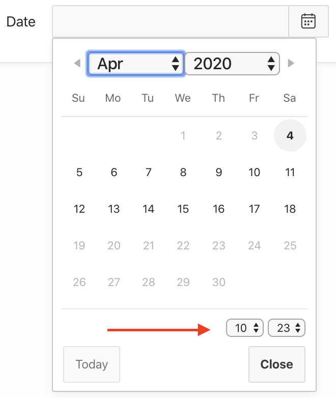 Oracle Apex: show time in date picker.