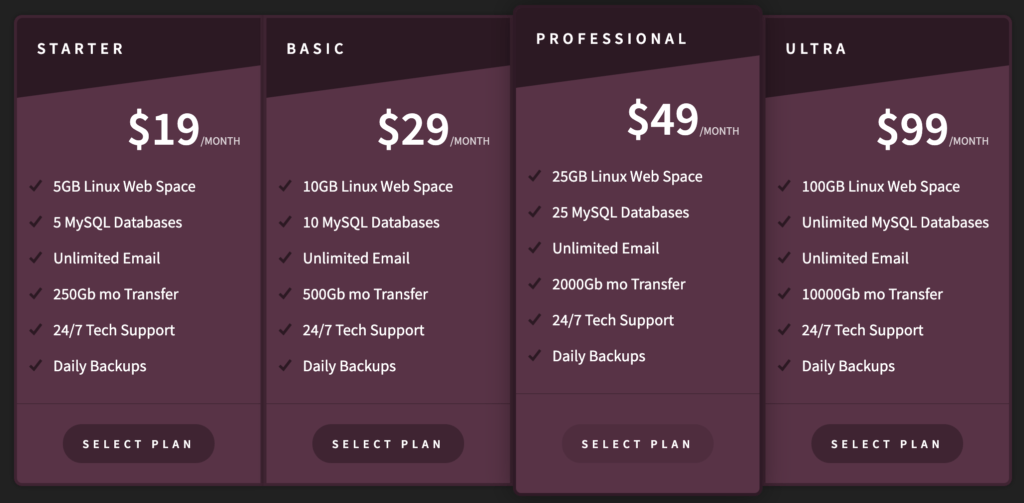 css beautiful pricing table examples  vinish kapoor's blog